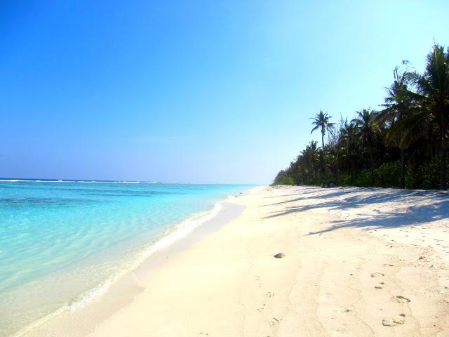 Hulhumale strand Maldivene