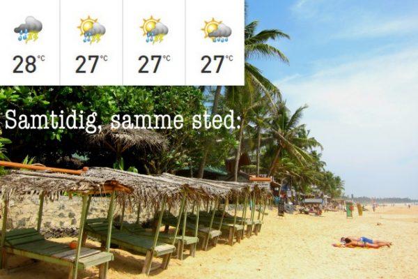 klima og sesong på Sri Lanka