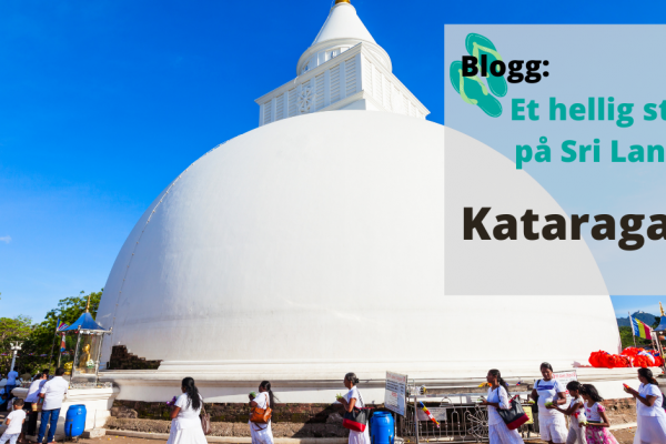 Kataragama hellig tempel på Sri Lanka