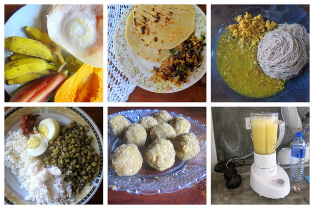 srilankisk mat Frokost på Sri Lanka