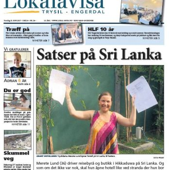 Mediomtale av Norlanka Travels i Lokalavisa