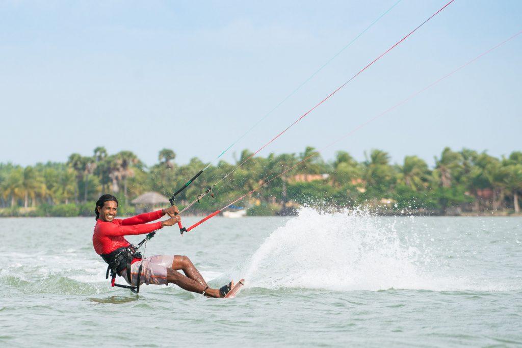 Kalpitiya er et paradis for Kitesurfere på Sri L anka