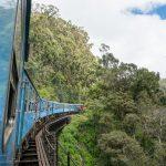 Togreise gjennom høylandet på Sri L anka