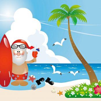 Julenissen på Stranda