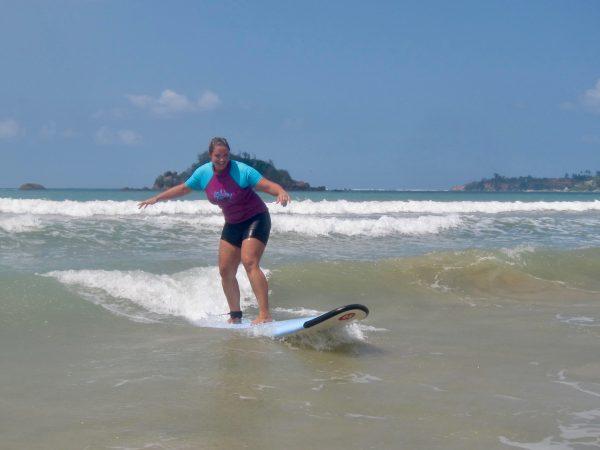 Surfing Weligama Sri Lanka