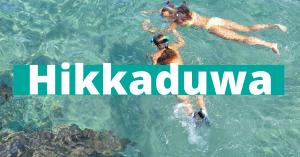 Hikkaduwa beste stranda på Sri Lanka