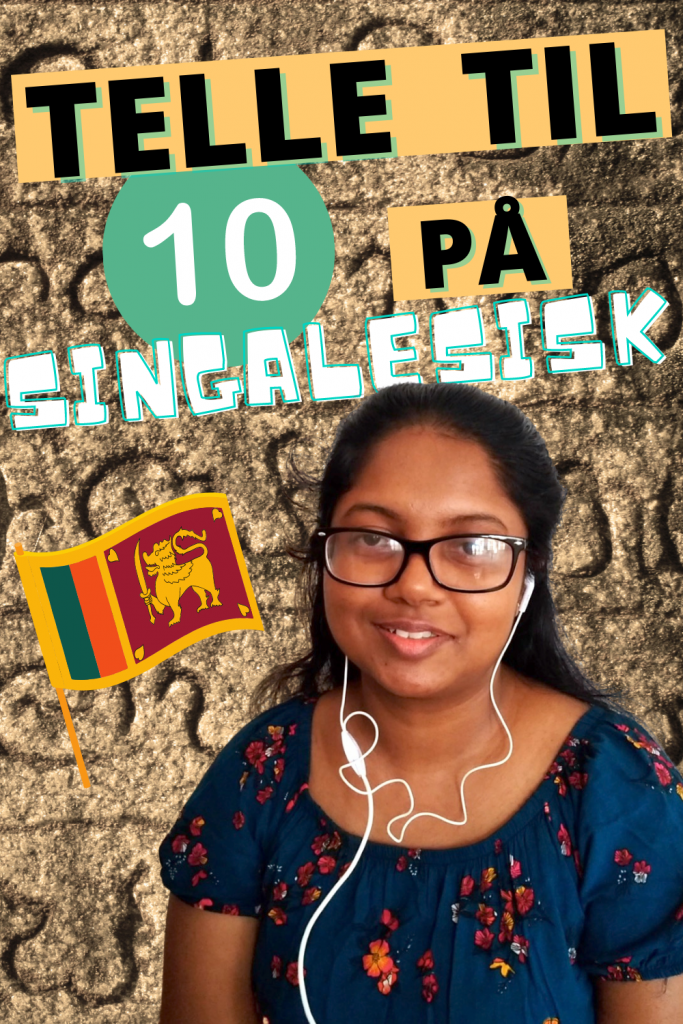 Språk Sri Lanka: telle til 10