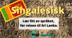 sri lanka språk singalesisk