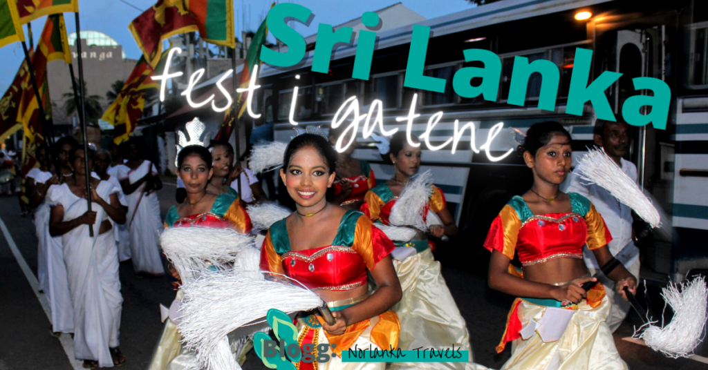 festival i gatene på Sri Lanka