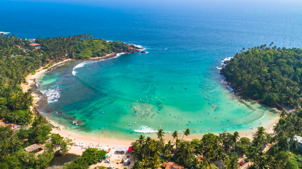 Beste stranda Sri Lanka Hiriketiya